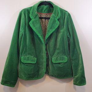 Boden Green Velvet Blazer Sz 18